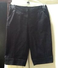 Ann Taylor Loft Dark Blue Denim Marisa Capri Cropped Pants Jeans Size Petites 4
