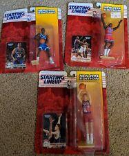 1996 Starting Lineup NBA Basketball Lot Mashburn, Bradley, Cheany SLU Rookies