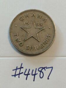 🇬🇭🇬🇭🇬🇭 1958 Ghana 2 Shillings Coin 🇬🇭🇬🇭🇬🇭