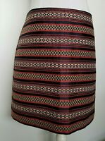 Ann Taylor LOFT Pencil Skirt Lined Navy Red Cream Back Zipper Size 10P