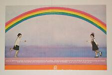 1969 Cuban OSPAAAL Political Poster.North Korea.Rainbow.Together.Cold War art