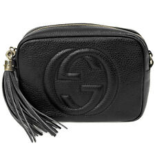 Gucci Soho Small Leather Disco Bag in Black
