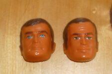 SIX MILLION DOLLAR MAN MASKATRON LOT OF 2 FACE STEVE & OSCAR ORIGINAL 1977