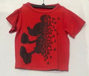 Disney Mickey Mouse Shirt, Red and Black, Boy's Size X-Small