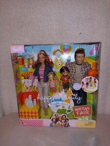 Happy Family Neighborhood Hometown Fair Gift Set Barbie Doll #C5196