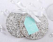 48 Silver Sparkle Coasters Sets Wedding Bridal Shower Favors Lot Q36420
