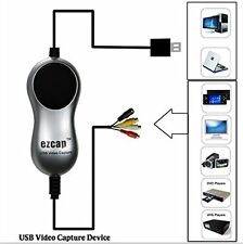 Lastest USB VHS to DVD Converter A/V to Computer Video Capture for Windows 8/10