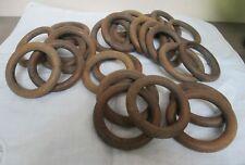Lot 28 anneaux en bois pour tentures, tringle à rideau vintage, Diam  ext 7 cm