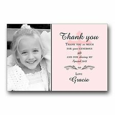 10 Personalised Thank you Cards 1st First Holy Communion H115 Add PHOTO