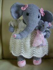Nelliefant + Baby + Football Elephant  Easy Soft Toy  Elephant Knitting Pattern