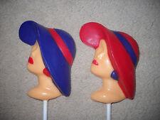 1 Chocolate Red Hat Society Ladies Head Garden Tea Kentucky Lollipop Lollipops