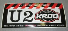 ☆ Original U2 Vertigo Tour 2005 Kroq 106.7 Bumper Sticker - Los Angeles/Anaheim