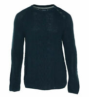 Nautica Men's Cable Knit Button Shouder Crew Neck Sweater Navy Size Large