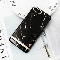 For iPhone 6 6s 7 8 Plus X Luxury Ultra Slim Marble Pattern Hard Back Case Cover