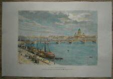 1880 Reclus print NEVA AT ST. PETERSBURG, RUSSIA (#46)