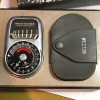 GENUINE ORIGINAL WESTON MASTER III LIGHT EXPOSURE METER WITH CASE ORIGINAL BOX