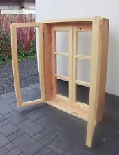 Wooden Timber Chunky Frame Style Country Double Casement Window Ready Made ''B''