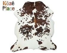 Tricolor Cowhide Rug Premium Quality (size X-Large approx 6x7 feet)