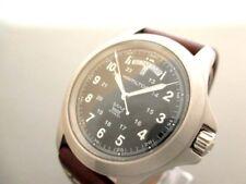 Auth HAMILTON Khaki King Day-Date H644510 Dark Brown Silver Wrist Watch