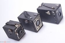 VREDEBORCH VREDE, LUMIERE SCOUT & UNBRANDED 6X9CM BOX CAMERAS ON 120 ROLL FILM