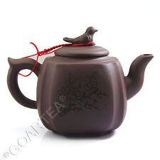 350ml Chinese Rare Yixing Purple clay Pottery Zisha Bird Tea Pot Teapot #FM02