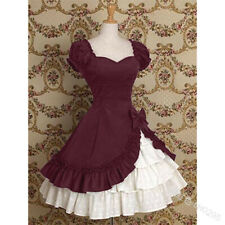 Lolita Dress Halloween Cosplay Medieval Vintage Ruffle Gothic Bow Women Costumes