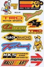 "D504 Sponsor Sponsors Racing Tuning Sticker Decal 1 Sheet 10,5""x7"" / 27x18 cm"
