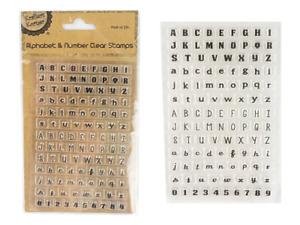 ALPHABET & NUMBER CLEAR STAMP SET 114 piece Scrapbooking Letter Embellishments