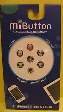 MiButton Skull Home Button Covers for Apple iPhone iPod Touch iPad NIB