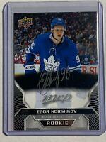 2020-21 Egor Korshkov UD MVP Card Toronto Maple Leafs Autograph Rookie RC Auto