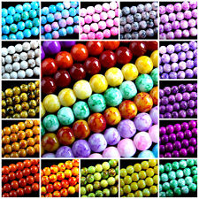 140 x MULTIPLE CHOICE~ROUND~MARBLE EFFECT~GLASS BEADS, 6 MM