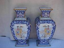 """PAIR OF EARLY 20TH CENTURY CHINESE POLYCHROME ENAMEL BRONZE  VASES - 20"""" TALL"""