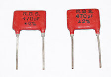 2 PIECES 470pF 2% SILVER MICA CAPACITOR RBS