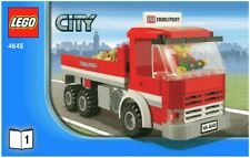 Lego 4645 Harbor Transport Truck ONLY Vehicle, Cargo, 1 Minifig & Instructions
