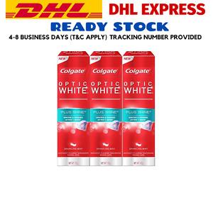 4 X 100g COLGATE Optic White Plus Shine Toothpaste Freshening Your Breath DHL