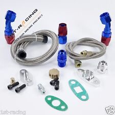 Turbo Oil Feed+Return Line Kit For T3 T3T4 T4 T70  T66 Turbocharger universal