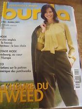 MAGAZINE BURDA A L'HEURE DU TWEED LE CHIC ANGLAIS    N° 22   2001