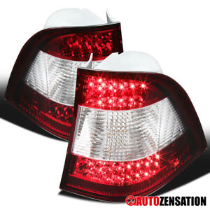 For 1998-2005 Mercedes Benz W163 ML320 ML350 Red/Clear LED DRL Tail Brake Lights