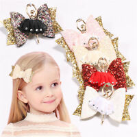 Accessories Sequins Hair Clips Glitter Bow  Girl Headwear  Bowknot Hairpin