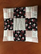 Handmade Quilted Patchwork Envelope Style Throw Pillow Cover