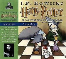 Audiolibro audiobook  HARRY POTTER  e la pietra filosofale J. K. Rowling Usato
