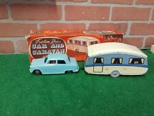 Vintage Mettoy Tin Friction Caravan Camper & Car