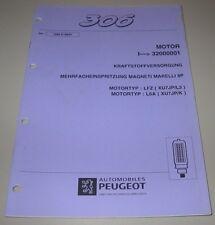 Werkstatthandbuch Peugeot 306 Kraftstoffversorgung Mehrfacheinspritzung LFZ L6A