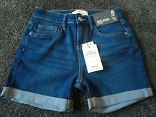 Primark Mid Rise Denim Shorts with Lace Trim - Size 6 (Brand New with Tags)