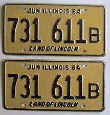 Illinois 1984 TRUCK License Plate PAIR NICE QUALITY # 731 611B