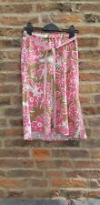 Roxy By Quicksilver Skirt Turtle Bay Hawaii Brown & Pink Size 3 Uk 10/12 Surfer