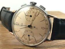 JAEGER Steel & Rose Gold Chronograph Mechanical 285 Vintage 1940s - Le Coultre