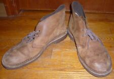 Clarks Brown Rugged Nubuck Leather Ankle Chukka Desert Boots Men's Size 11M