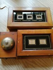 Two Antique Vintage Butler Servants Call Bell Boxes and bell Victorian salvage