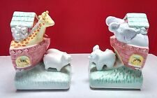 Noahs Ark Bookends CR Gibson Cathy Heck Childrens Nursery Baby Room Decor Bible